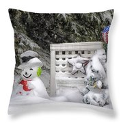 Frosty The Snow Man Throw Pillow