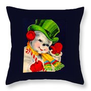 Frosty The Snowman Throw Pillow