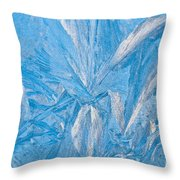 Frosty Window Art Throw Pillow
