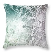 Frosty Windowpane Throw Pillow
