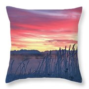 Frosty Winter Sunrise Throw Pillow