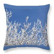 Frosty Winter Wonderland 01 Throw Pillow