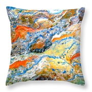 Froth Throw Pillow by Karunita Kapoor