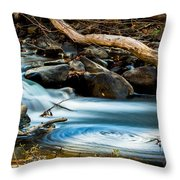 Frothy Swirls Throw Pillow