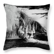 Frozen Basin Throw Pillow
