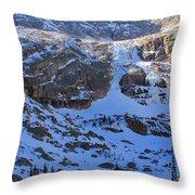 Frozen Black Lake Throw Pillow