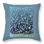 Frozen Blueberries Throw Pillow