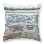 Frozen Dnieper River Throw Pillow