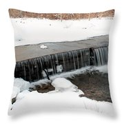 Frozen Falls At Pine Creek Throw Pillow