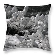 Frozen Falls Tundra Fingers Throw Pillow