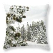 Frozen Forest Throw Pillow