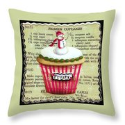 Frozen Frosty Cupcake Throw Pillow