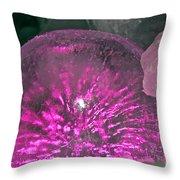 Frozen Fuchsia  Throw Pillow