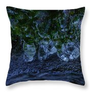 Icicle Garden  Throw Pillow