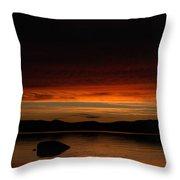 Lake Umbagog Marbled Moment Throw Pillow