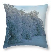Frozen Lace Throw Pillow