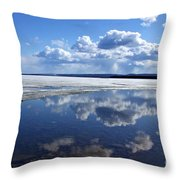 Frozen Lake Throw Pillow