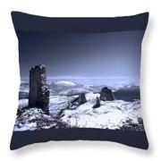 Frozen Landscape Throw Pillow