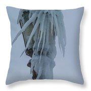 Frozen Lantern At The Falls Throw Pillow