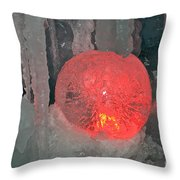 Frozen Marble Throw Pillow