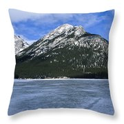Frozen Minnewanka Throw Pillow