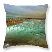 Frozen Peir Throw Pillow