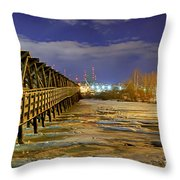 Frozen Pier Throw Pillow