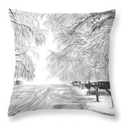 Frozen Rain  Throw Pillow