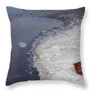 Frozen Rock Throw Pillow
