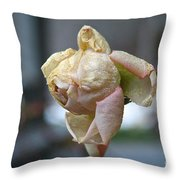 Frozen Rose Throw Pillow