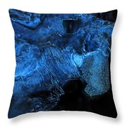 Frozen Stone Fish Throw Pillow