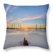Frozen Sunrise V2 Throw Pillow