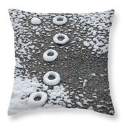 Frozen Tracks Throw Pillow