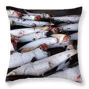 Frozen Tuna For Canning Throw Pillow