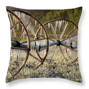Frozen Wheels Throw Pillow