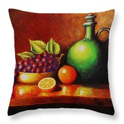 Fruit And Jug Throw Pillow