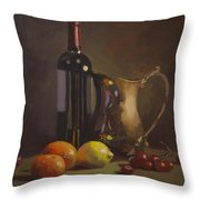 Fruit And Wine Throw Pillow