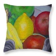Fruit Bowl Throw Pillow