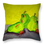 Fruit Delight Throw Pillow
