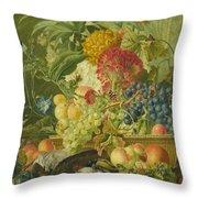 Fruit Flowers And Dead Birds Throw Pillow