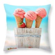 Fruit Ice Cream Throw Pillow