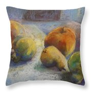 Fruit In Moonlight Throw Pillow
