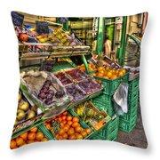 Fruit Market Throw Pillow
