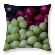 Fruit Mixer Throw Pillow