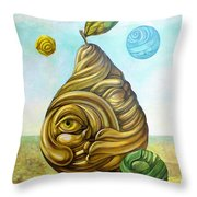 Fruit Of Knowledge Throw Pillow