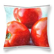 Fruit Of The Vine - Tomato - Vegetable Throw Pillow
