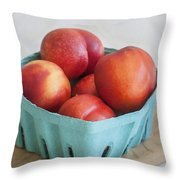Fruit Stand Nectarines Throw Pillow