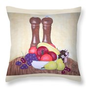 Fruit Table Throw Pillow