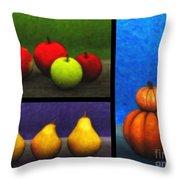 Fruit Trilogy Throw Pillow