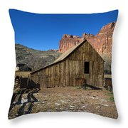Fruita Horse Stable Capitol Reef National Park Utah Throw Pillow